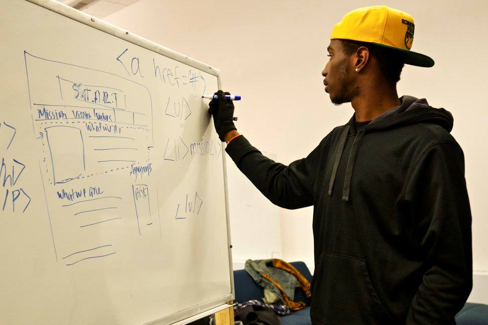 Kai Martin showing off his coding skills