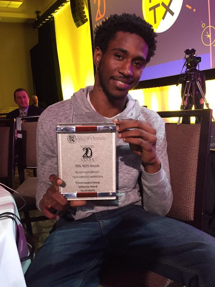 Kai with his award