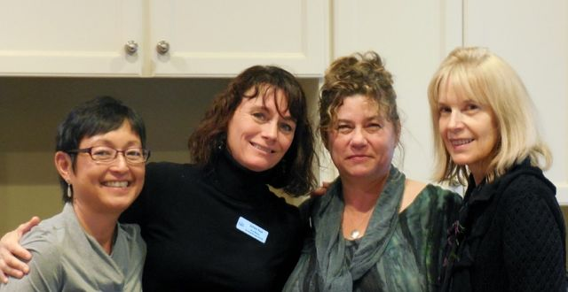 The four founding women of Oncology Massage Alliance (left to right): Wendy Kamasaki, Colleen Ryan, Gail Bailey, and Geri Ruane