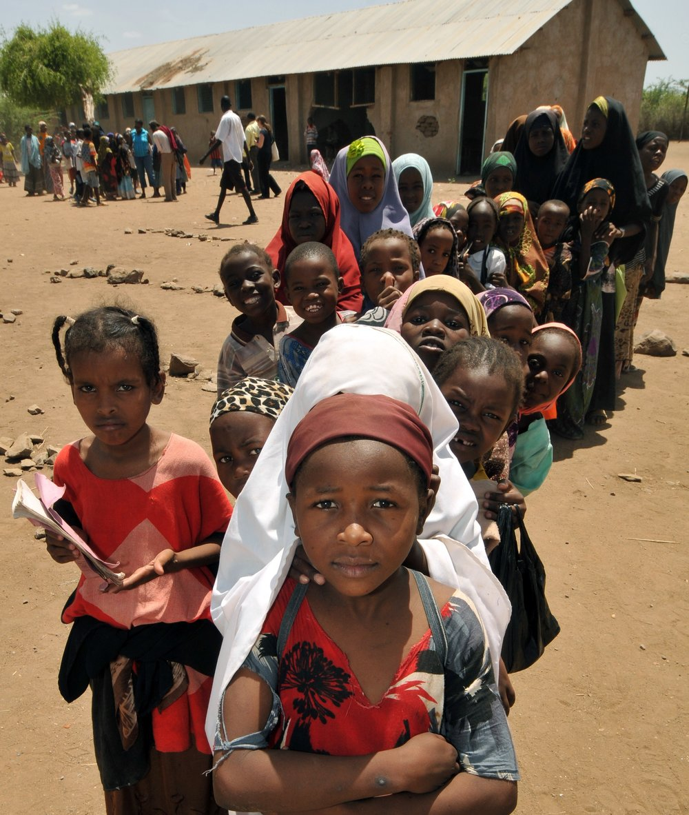 School children at Kakuma Refugee Camp in Kenya (photo courtesy of PHC)