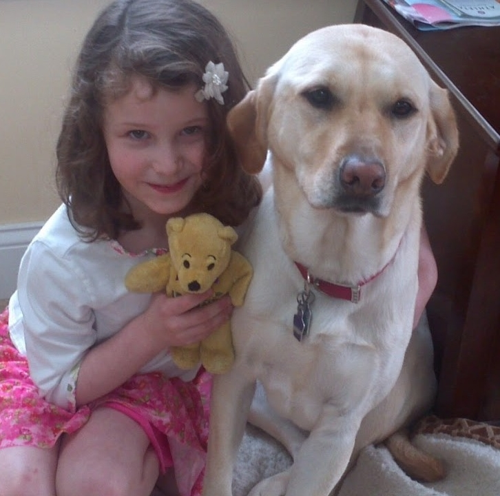Charlotte Bacon with her dog, Lily.