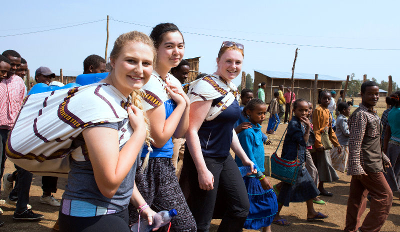 Global Fellows experiencing the walk for water in Ethiopia