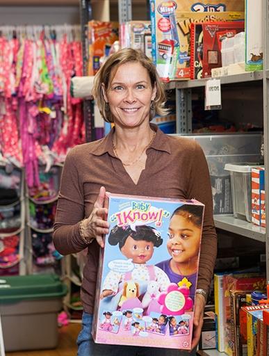 Lisa Vasiloff at the Birthday Wishes Newton office (photo credit:Alena Kuzub)