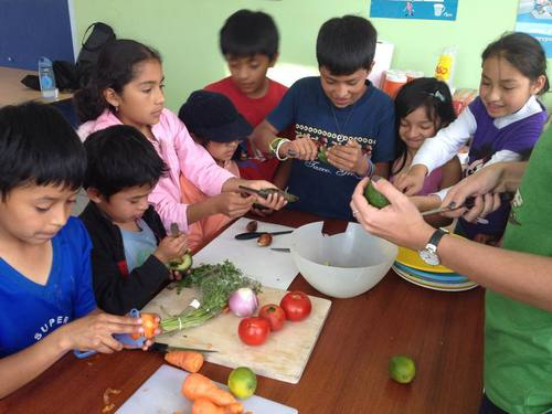 An MPI children's cooking and nutrition class  (photo credit: MPI)