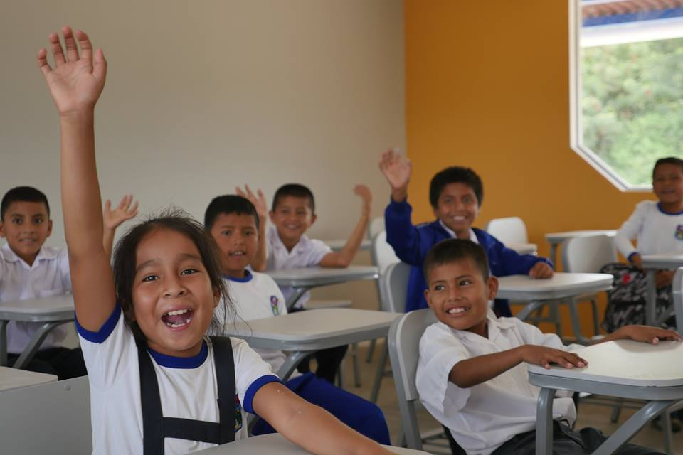 Kids in their new classroom  (photo credit: All Hands and Hearts)