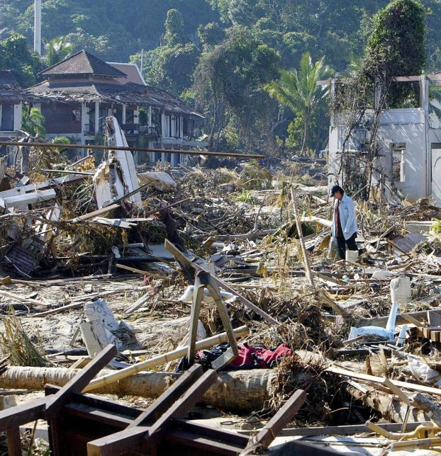 Devastation in Thailand after the tsunami  (photo credit: Getty Images)
