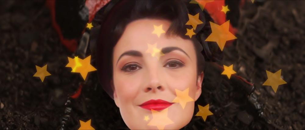 Georgia Bolton as 'George the ladybug'