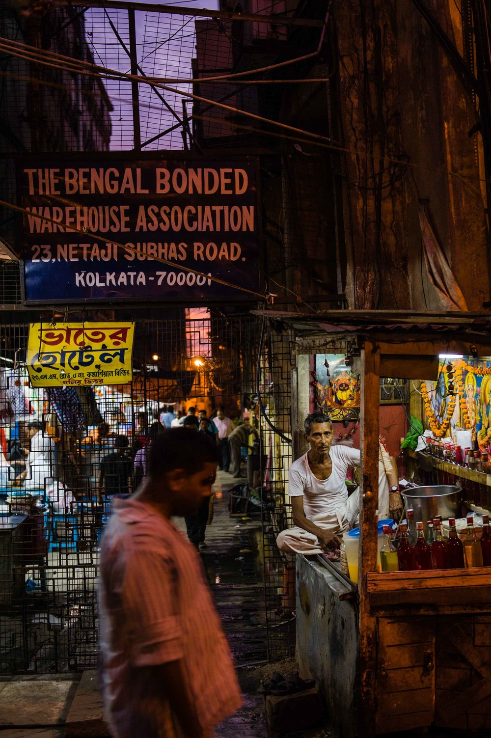 Night Market: Calcutta, Bengal, India