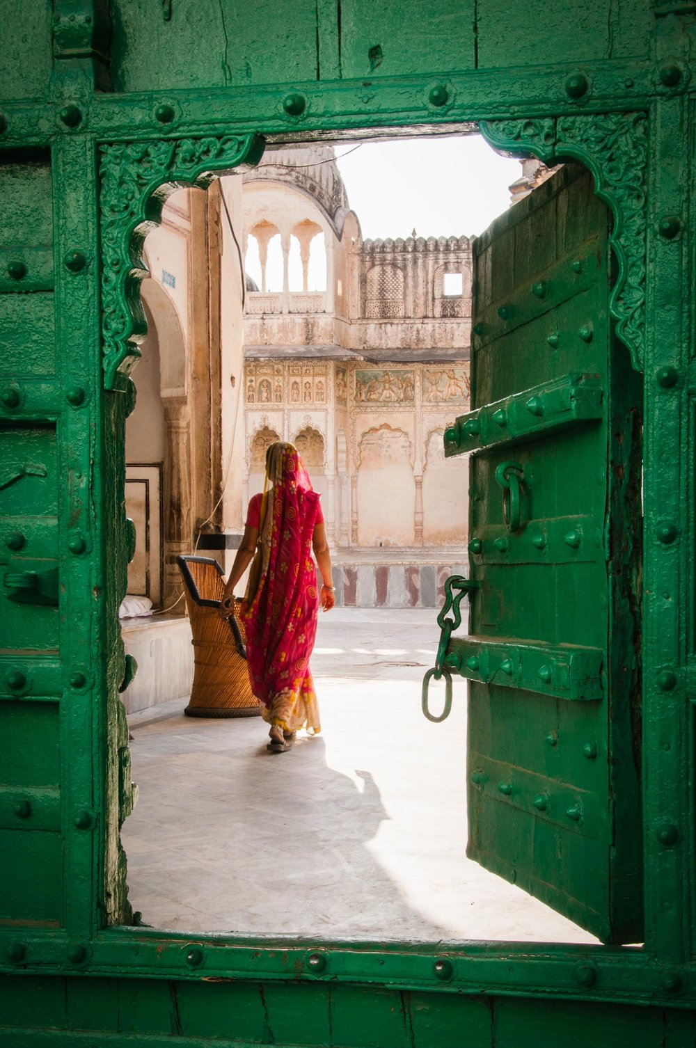 Green Door: Pushkar, Rajasthan, India