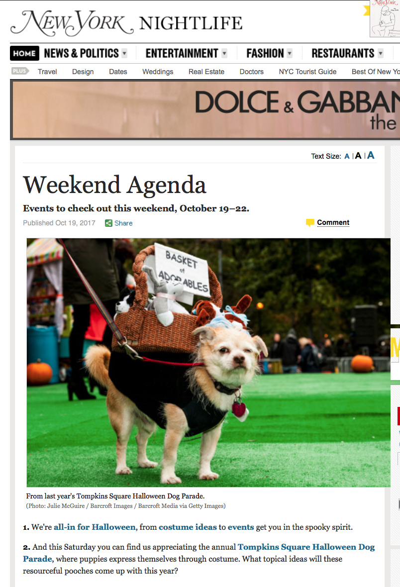 Halloween Dog Parade NYC 2017