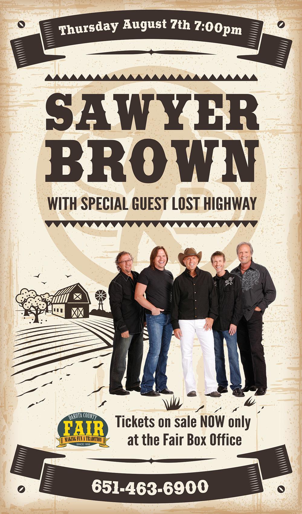 Concert materials: Sawyer Brown-2014 Dakota County Fair