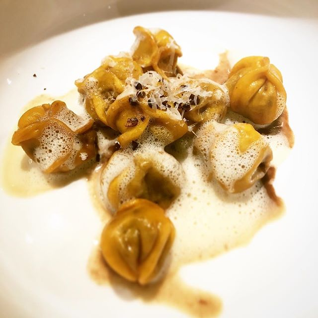 Yes it's true, @jacopa.it is the new restaurant of Hotel San Francesco and these are our amazing ravioli.