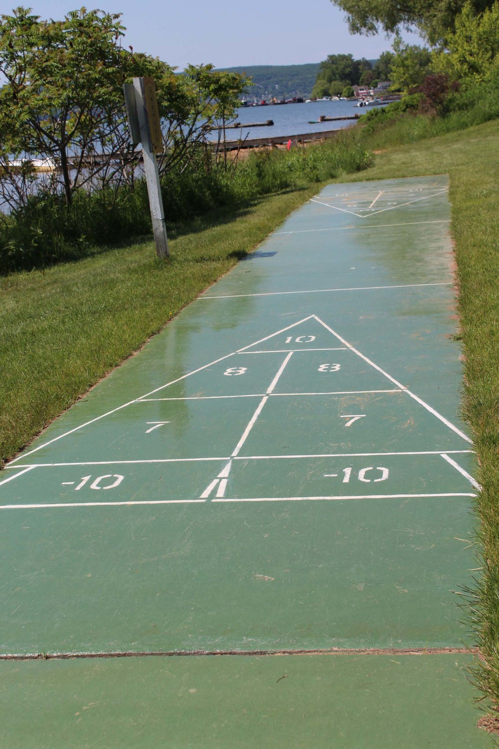 play some shuffleboard with the kids