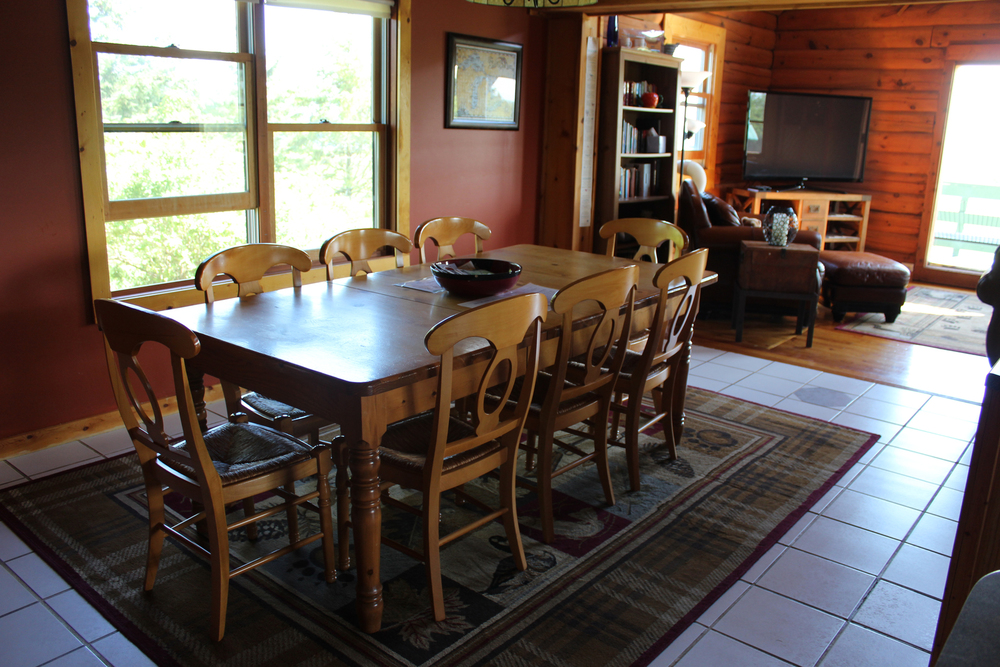 Dining room table with plenty of room for everyone