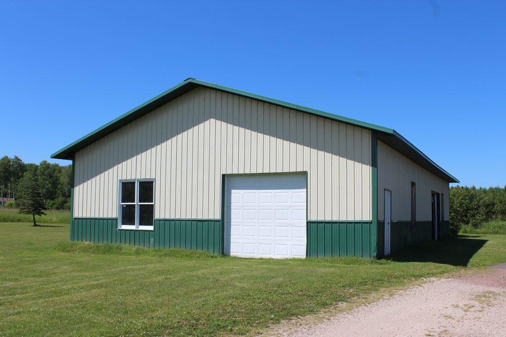 Pole barn with five acres