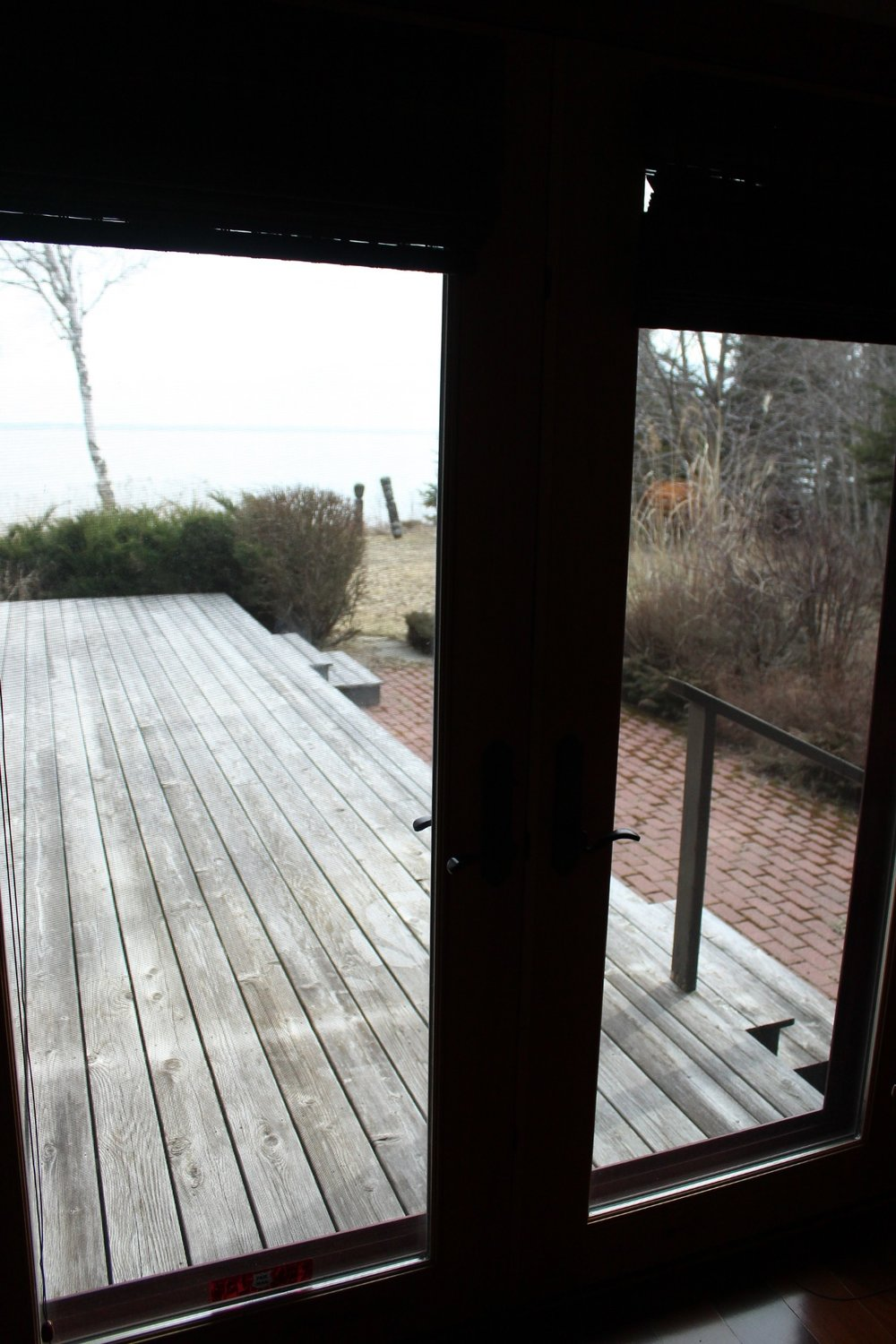 Deck off first floor master bedroom