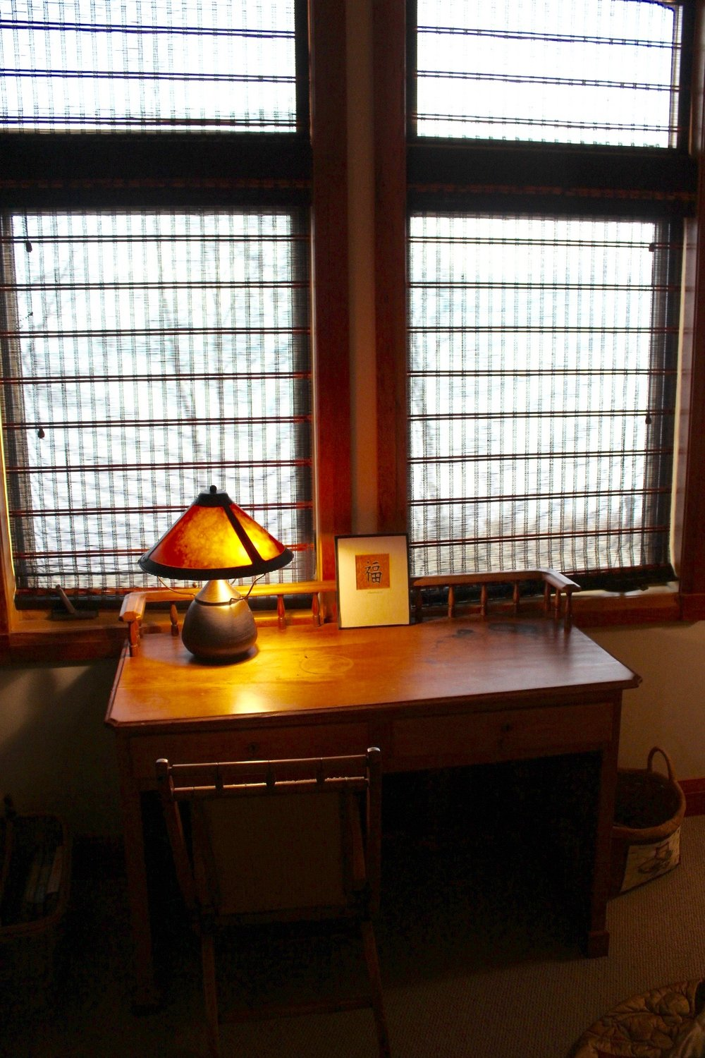 Second floor bedroom desk