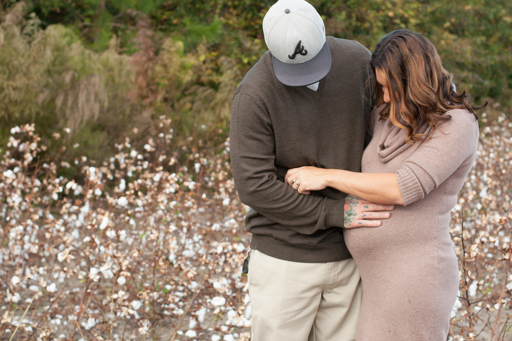 Cotton field maternity session, laurie schultz photography