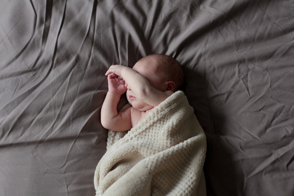 candid newborn baby photo