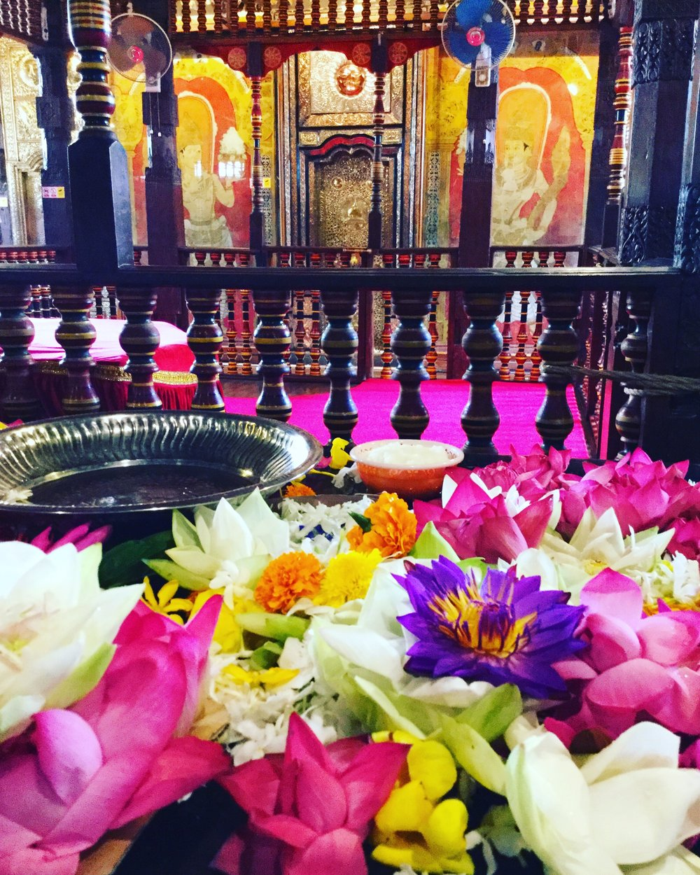 temple offerings, Kandy