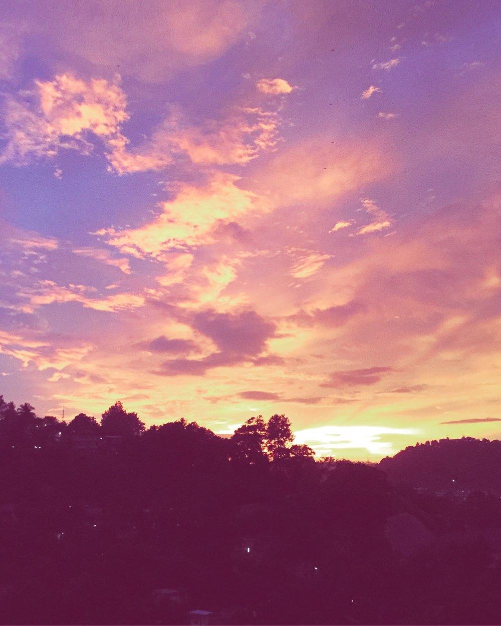 sunset, kandy
