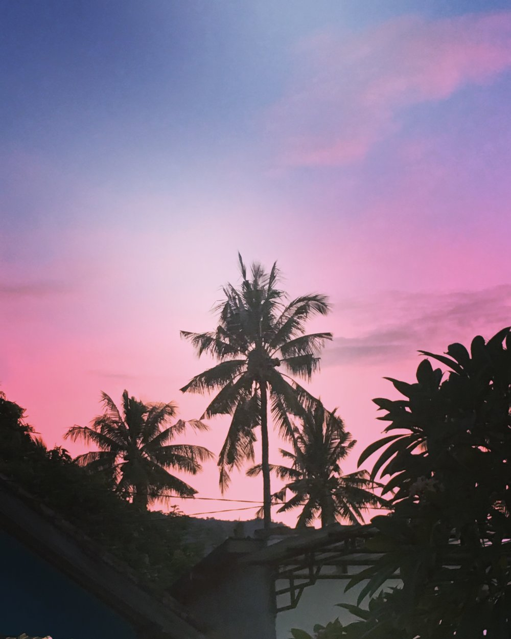 Pink sky, Bali