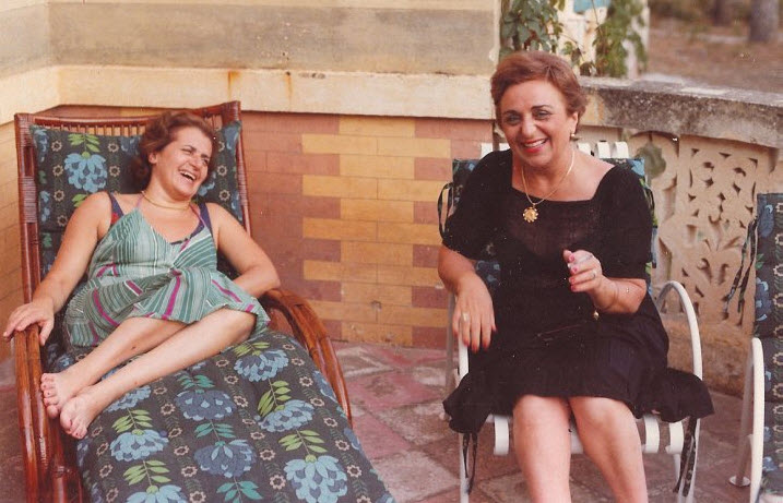 My grandma and her sister, Laura, in Italy