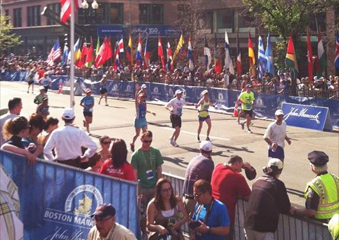 Finish line of the 2012 Boston Marathon. Wrecked and hot.