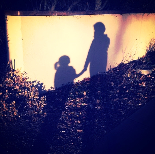 My daughter and me, in Colorado, 2014. Just barely coming out of the shadows.