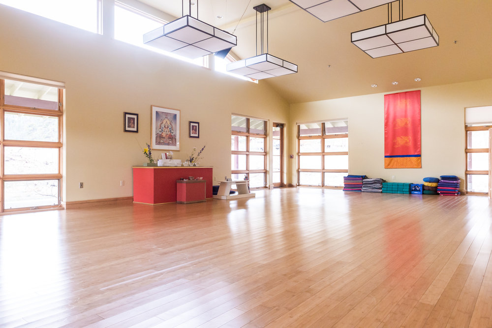 Group sessions and yoga will take place in the Rigden Lodge Meditation room.