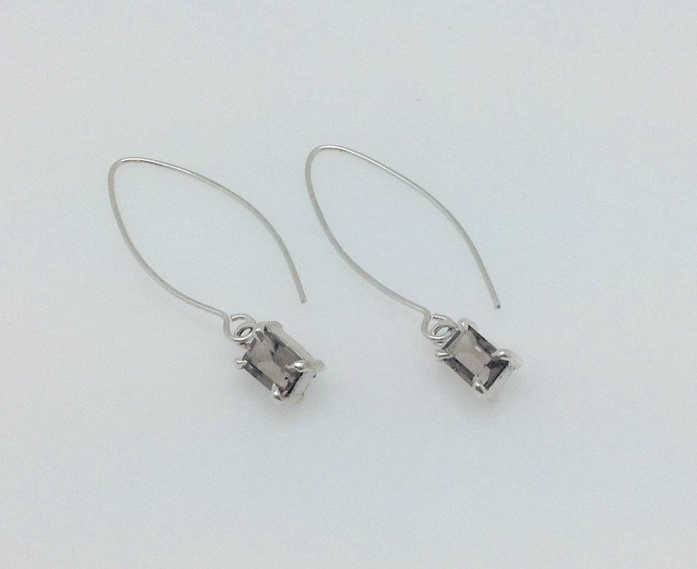 everyday elegant em cut smoky quartz earrings.jpg