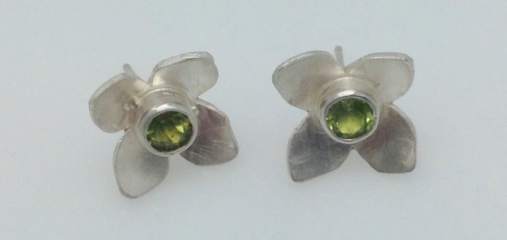 Bloom peridot post earrings.jpg