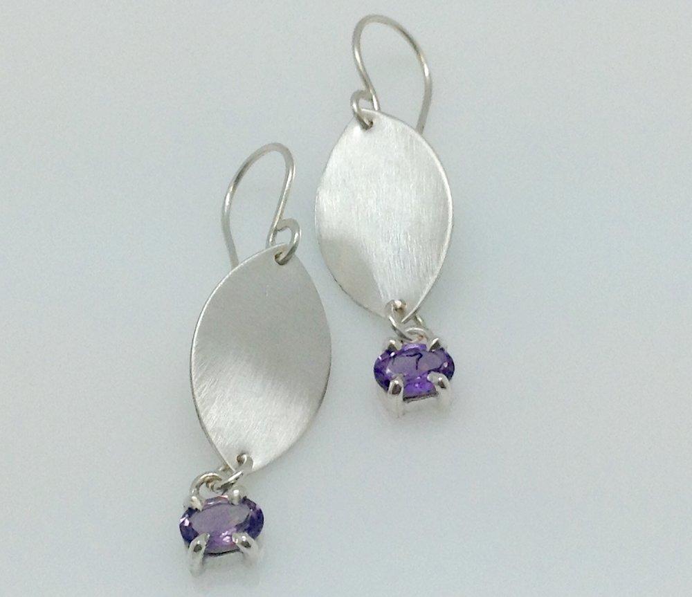 Leaf earrins amethyst sterling silver.jpg