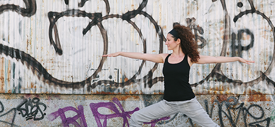 A yogi in city nature - therapy in Williamsburg, Brooklyn