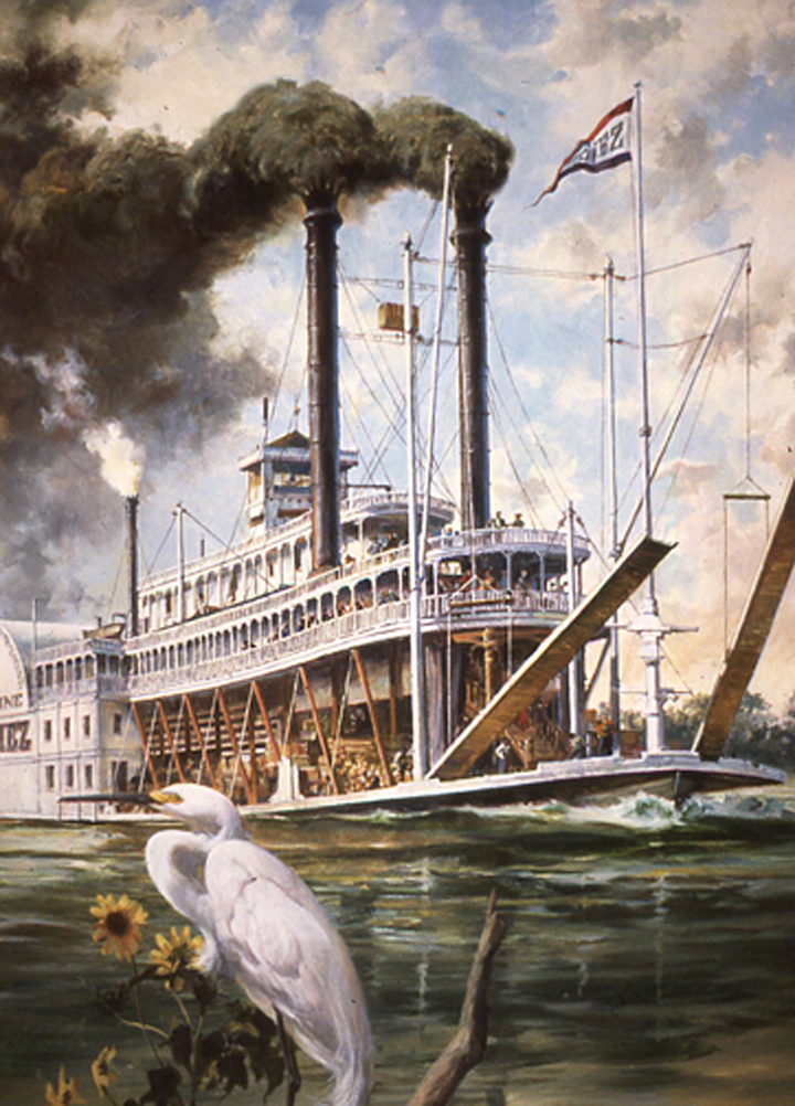 "The Natchez,  14"" x 20"", collector's print, Fleetwood, oil on canvas"