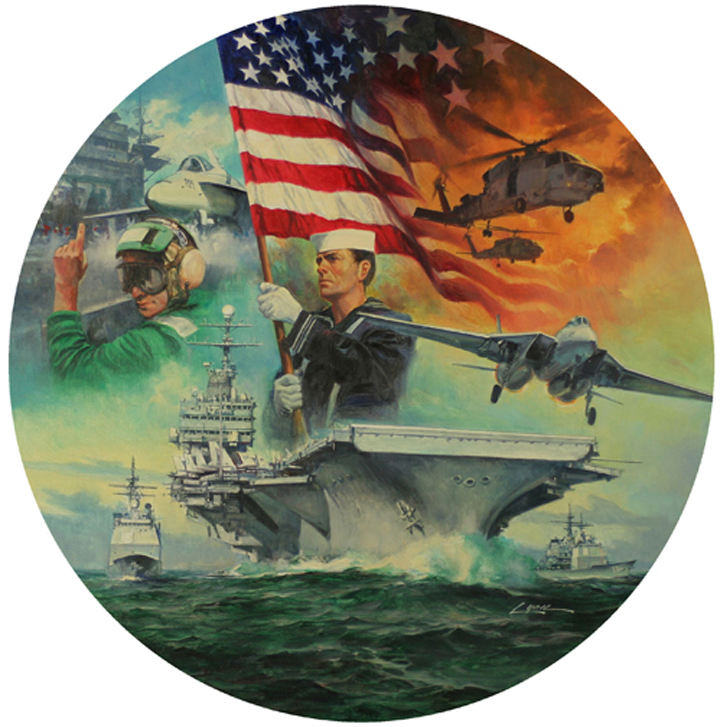 """A Nation's Pride   (No. 5), 24"""" round, collector's plate,Bradford Exchange, oil on canvas"""