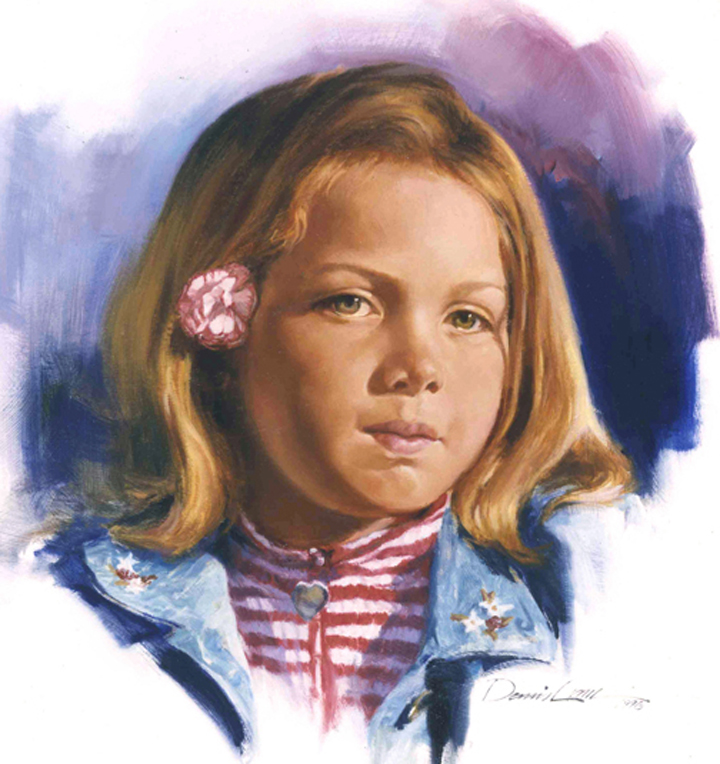 "Lonnie G. , 16"" x 16"", oil study on canvas"