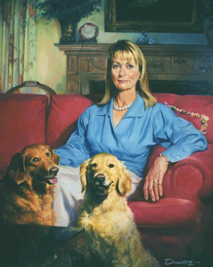 "Linda R. , 30"" x 36"", oil on canvas"