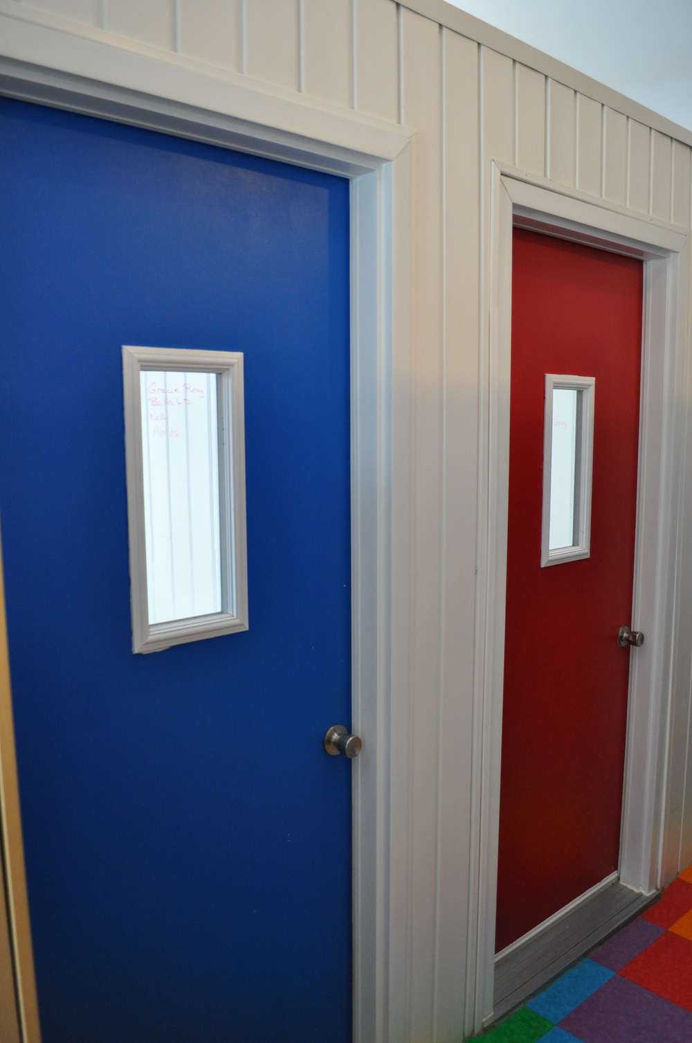 Blue & Red Dorm Rooms
