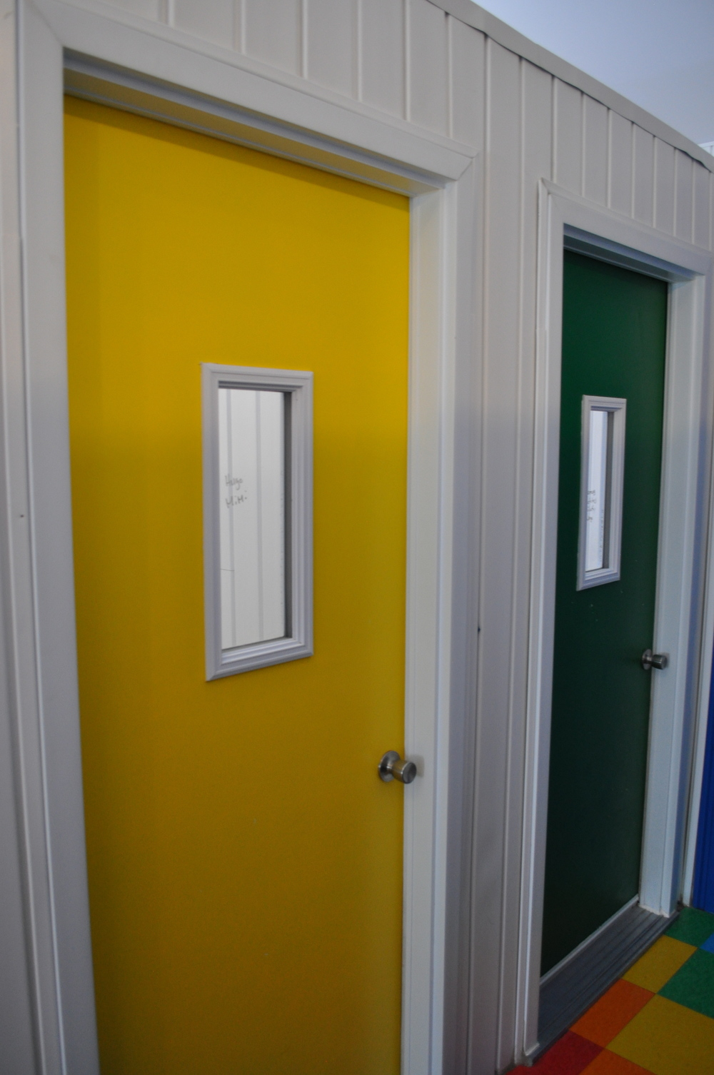 Yellow & Green Dorm Rooms