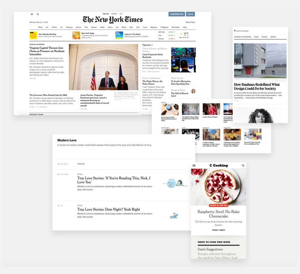 We primarily think of the NYT as black and white with thoughtful photography….