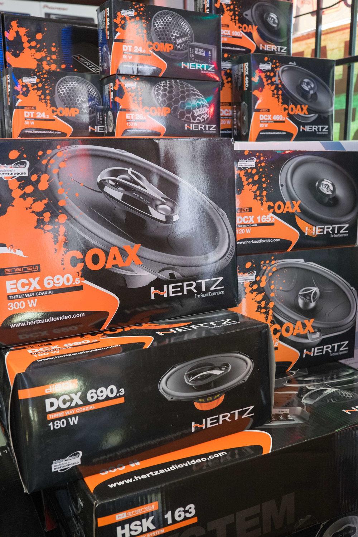 Hertz car stereo system installation