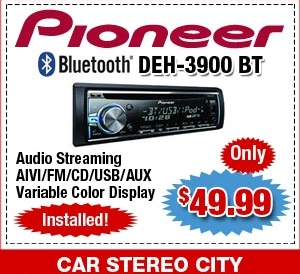 Car Stereo City Pioneer Bluetooth Audio