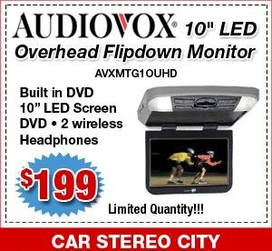 Audiovox flipdown car video monitor San Diego