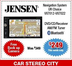 Jensen GPS Navigation System Car Stereo City San Diego