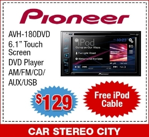 Pioneer touch screen DVD and TV Player San Diego