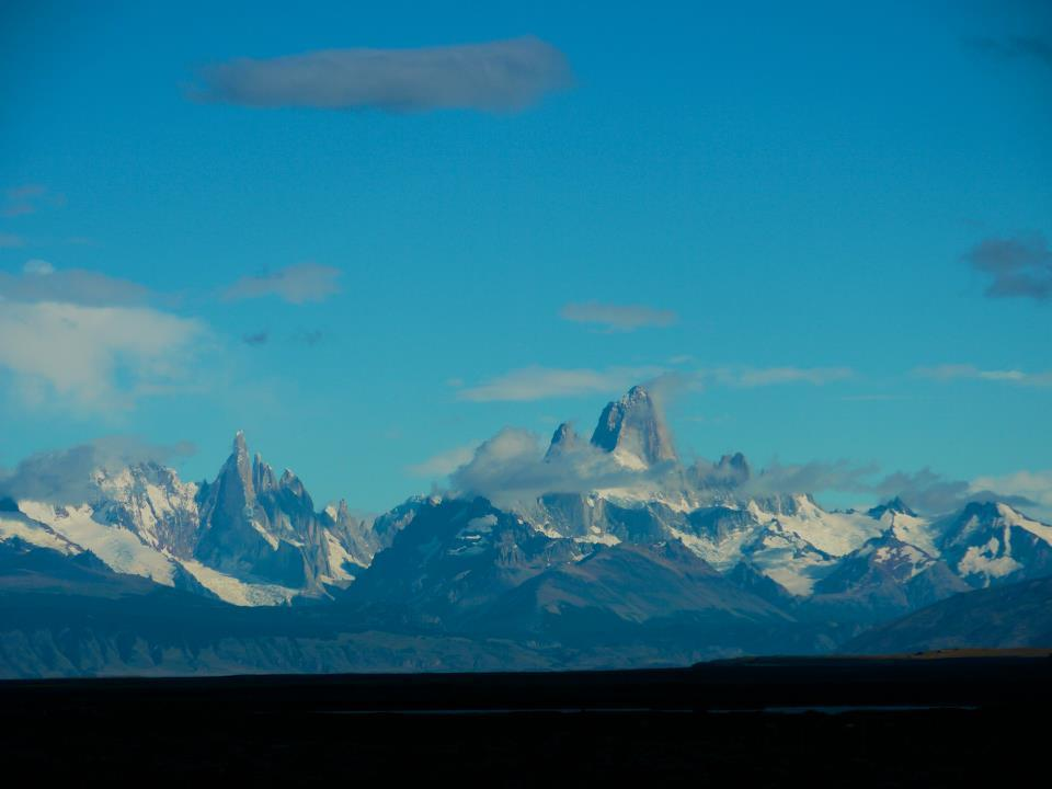 Heading toward the Patagonian mountains