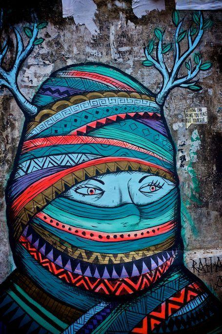 Street art in Kochi.