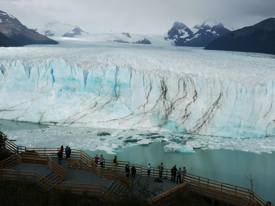 You can stand for hours watching huge slabs of ice calve off the face of the Perito Moreno glacier.