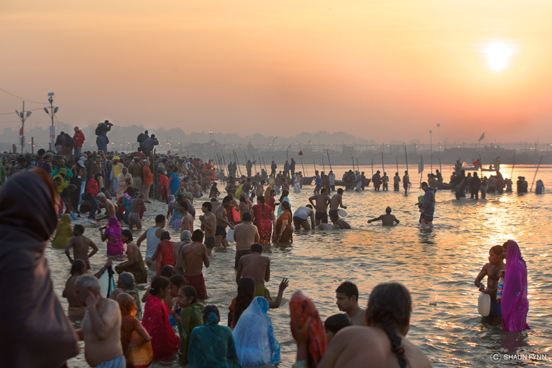 Dawn at the Sangam, devotion meets media frenzy